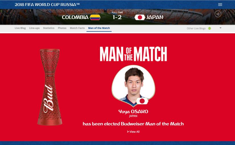 World Cup Game Analysis: Japan vs.Columbia